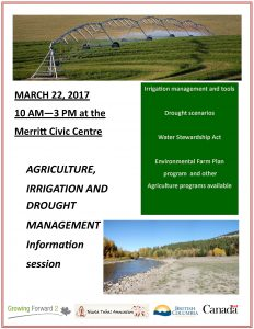 Agriculture Irrigation and Drought Management Info Session @ Civic Centre